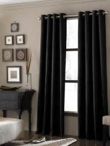 Black textured curtains