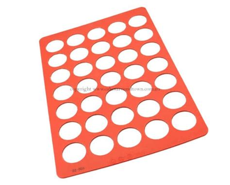 How Many Circles On Mat by A4 Sized Silicone Chablon Mat Circle