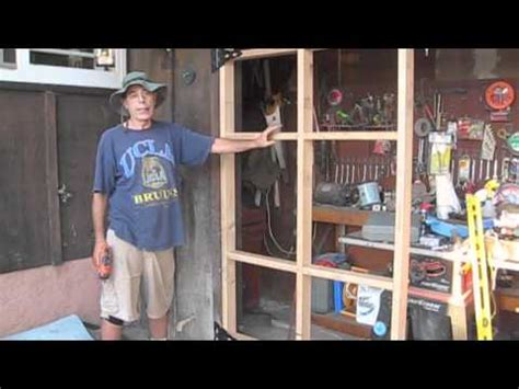 how to build swing out garage doors ガレージドア完成 finished the work for swing up garage door by