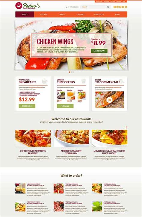 restaurant template 97 best restaurant cafe website templates free premium