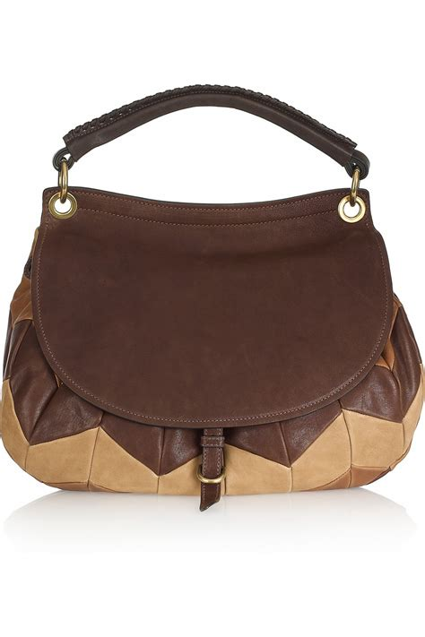 Patchwork Shoulder Bag - miu miu patchwork leather shoulder bag in brown lyst