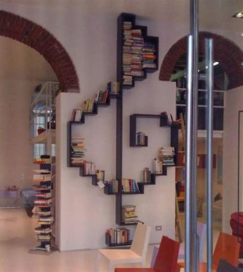 At Home Bookshelf Diy Treble Clef Bookshelf
