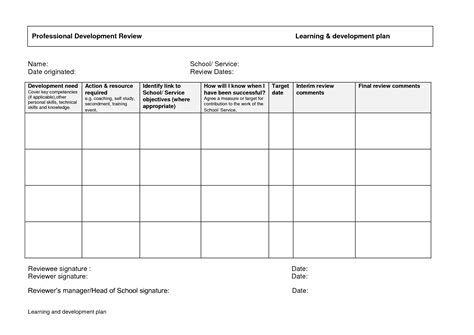 development template best photos of personal development plan personal