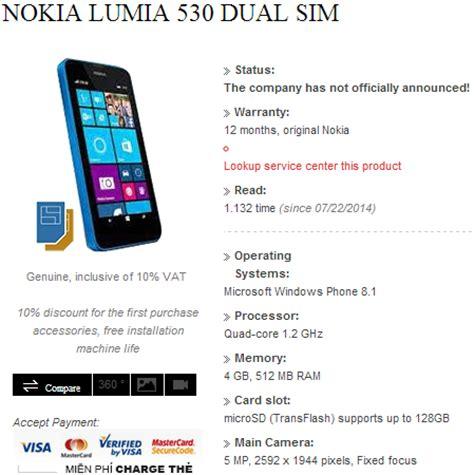 alleged dual sim nokia lumia 530 revealed by vietnamese