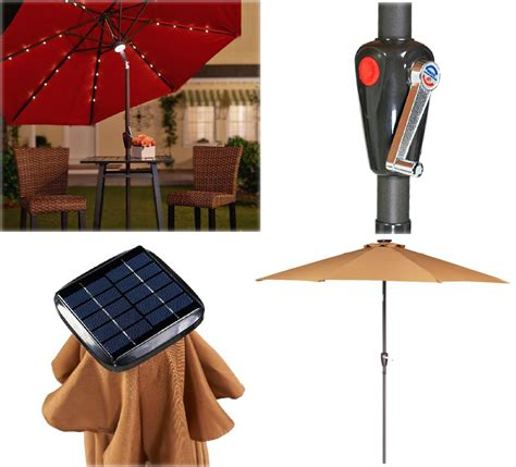 umbrella with solar lights light up the night with this solar patio umbrella the