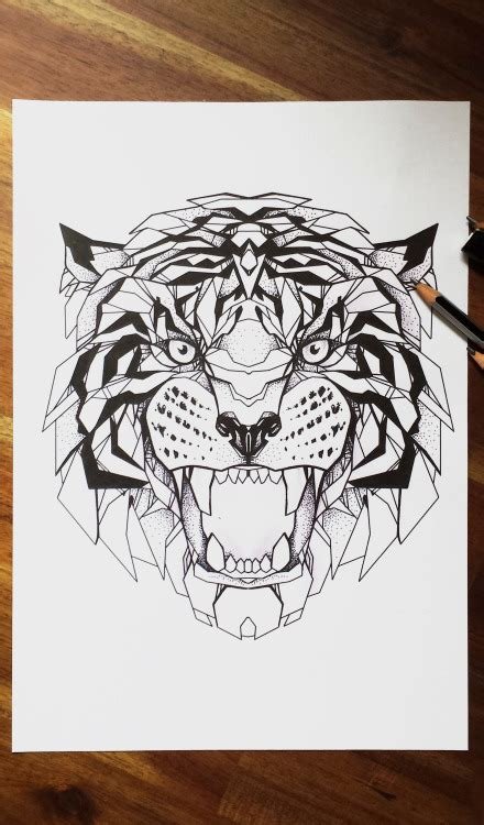 geometric tattoo artist sydney geometric tiger tumblr