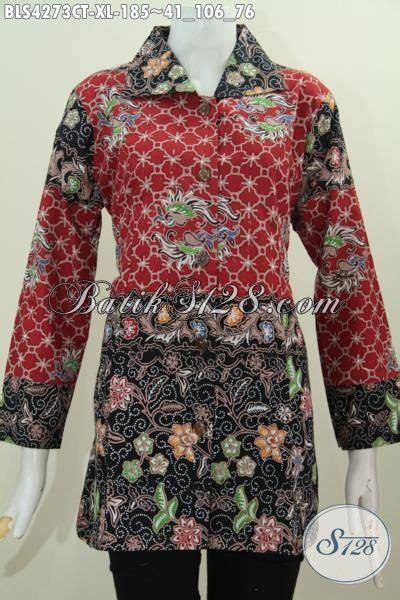 desain baju batik warna hitam jual online pakaian batik blus untuk wanita dewasa baju