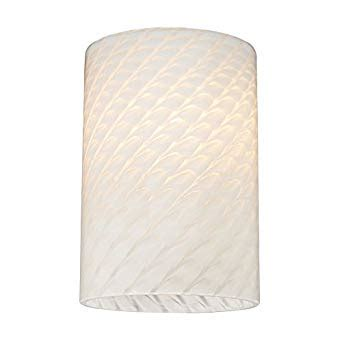 Replacement Glass L Shades Cylinder by Cylinder White Glass Shade Lipless With 1 5 8 Inch