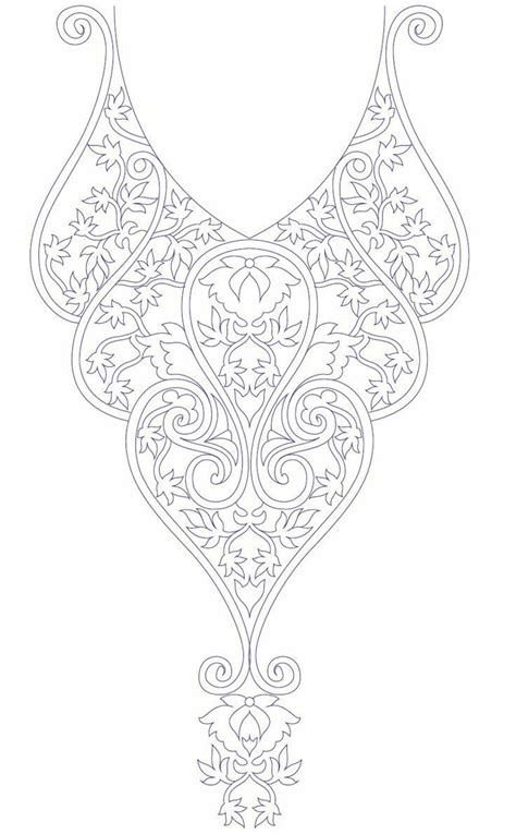 kurtis pattern vector hand embroidery designs for kurtis neck embroidery