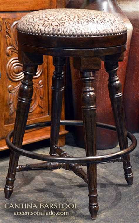 Western Leather Bar Stools by Western Style Cantina Leather Bar Stools