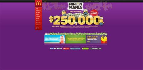 mcdonald s minion mania online sweepstakes week 3 - Mcdonalds Online Sweepstakes