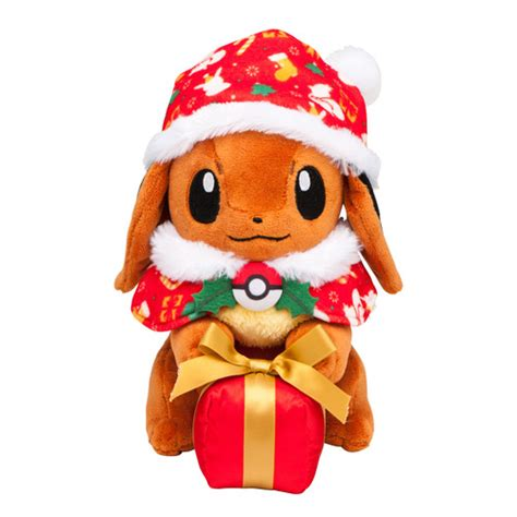 pokemon center christmas 2016 eevee plush doll poncho