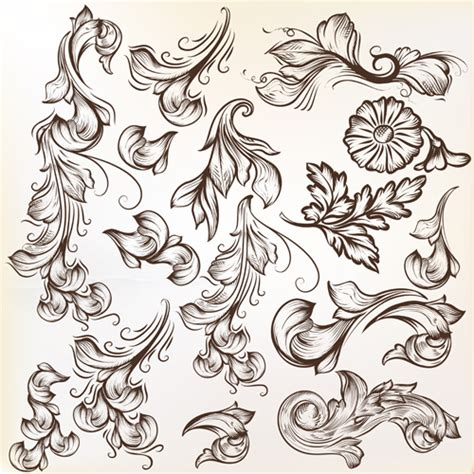 ornaments design floral swirl ornament design vector 01 vector floral
