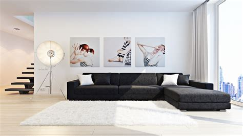 livingroom art series art sergei kharenko inner city monochrome living triple series wall painting tripod