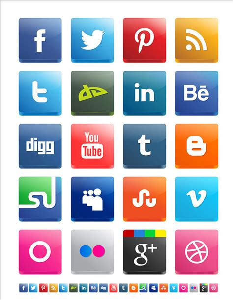 free sosial network icon best collections of free 3d social media icons creativecrunk