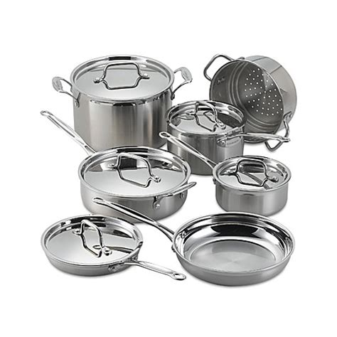 bed bath and beyond wok cuisinart 174 multiclad pro stainless steel 12 piece cookware