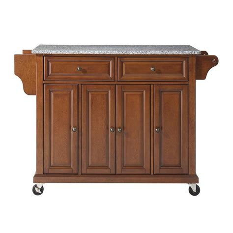 cherry kitchen islands crosley kitchen islands 52 in solid granite top kitchen