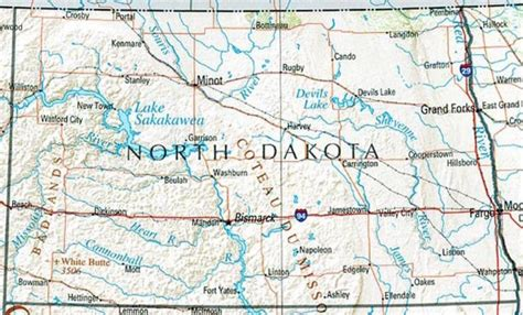 nd map dakota reference map