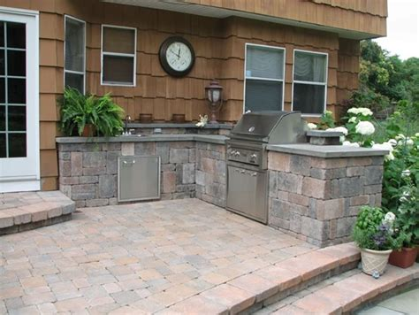 Patio Kitchen Design Backyard Patio With Wall Outdoor Kitchen Designers Ny