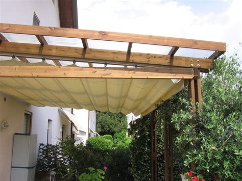 pergolato con tenda la tartaruga pergolati addossati in legno la tartaruga