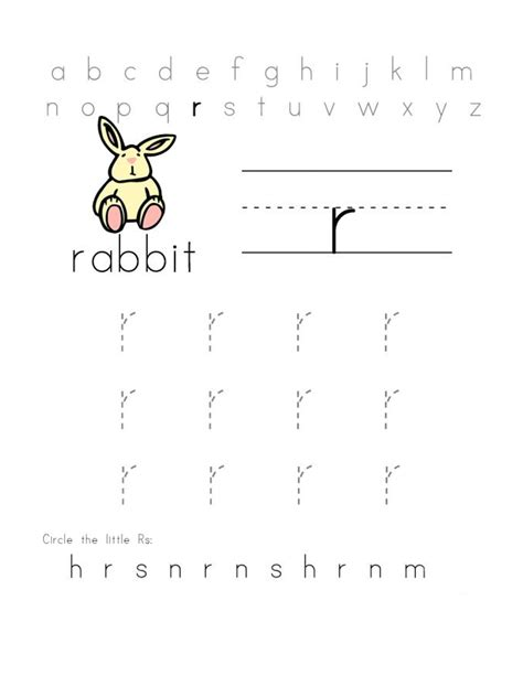 free printable preschool learning worksheets free letter r worksheets for preschool letter r