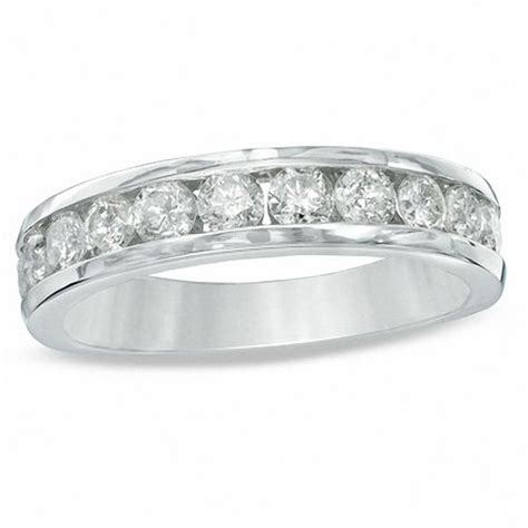wedding bands at zales 1 ct t w anniversary band in 10k white gold