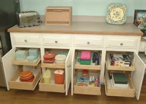 How To Make Pull Out Drawers In Kitchen Cabinets by Home Dzine Kitchen Diy Pull Out Storage Drawers