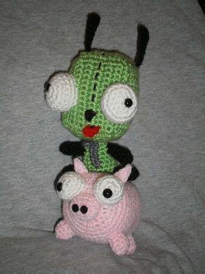 amigurumi gir pattern piggy from invader zim amigurumi crochet amigurumi