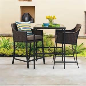 Bistro Patio Set Bar Height by Casetta 3 Piece Wicker Patio Bar Height Bistro Furniture