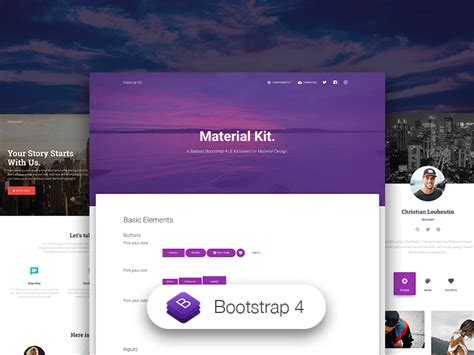 grande premium bootstrap website templates together with material kit free bootstrap material design ui kit