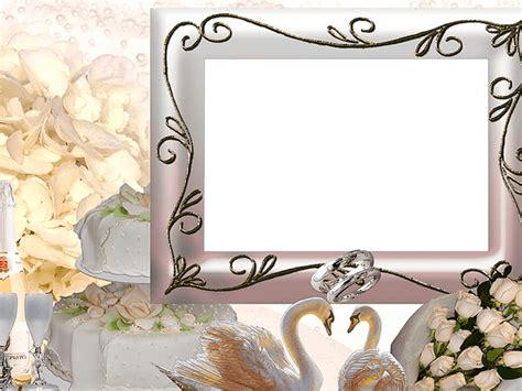 imagenes png boda marco foto para boda con cisnes y alianzas descargar