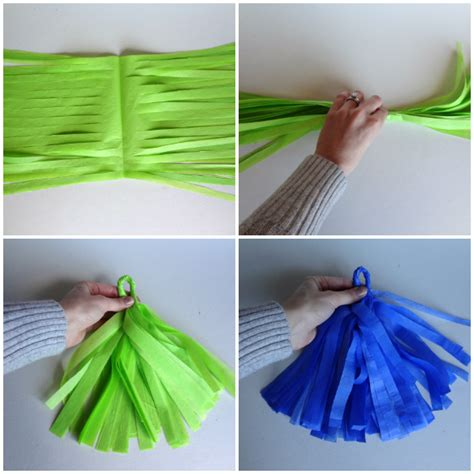 diy tutorial tissue tassel garland one stylish