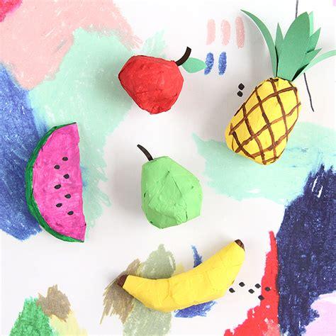 How To Make Paper Mache Ornaments - diy papier m 226 ch 233 fruit ornaments design sponge