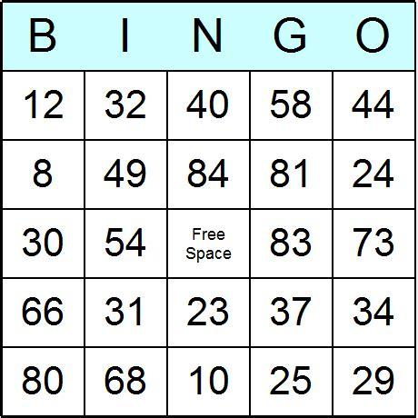 printable bingo tickets 1 90 numbers 1 to 90 bingo cards printable bingo activity