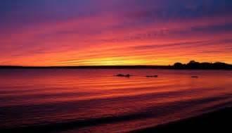foto pemandangan sunset menakjubkan  indonesia