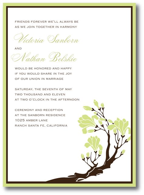 Wedding Invitations Green by Green Wedding Invitation A Vibrant Wedding
