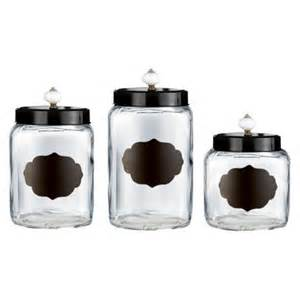 glass kitchen canister sets american atelier glass canister set of 3 target