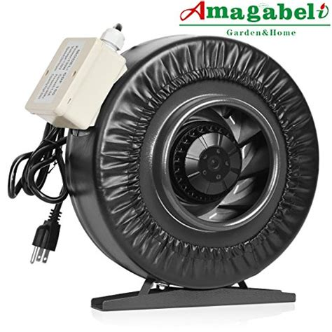 duct free exhaust fan with light amagabeli 6 inch inline duct fan 455 cfm for hydroponic