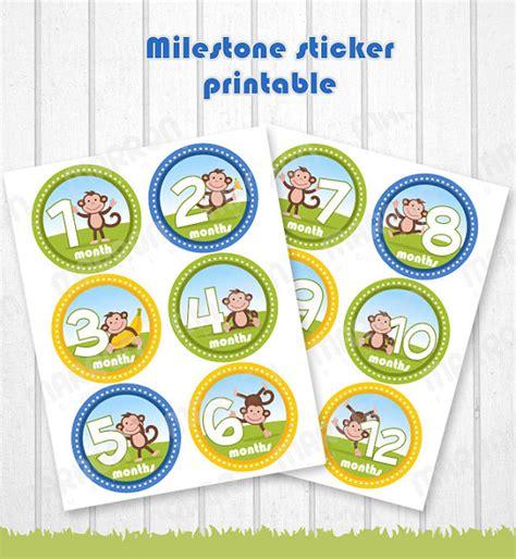 printable milestone stickers alex duran on etsy