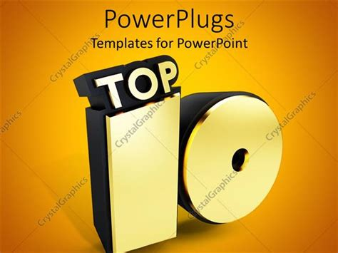 Powerpoint Template Representation Of A Golden Top 10 With Golden Background 29764 Top 10 Powerpoint Templates