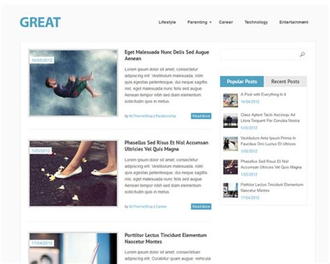 great free clean wordpress theme themeshaker com