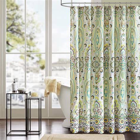 Curtains As Shower Curtains by Floral Accent Rounded Shower Curtain Using Chrome Curtain