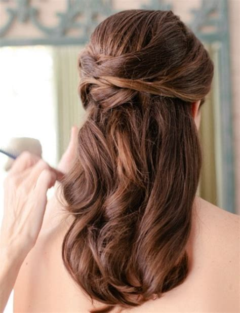curls half up half down hairstyles medium length hair half up half down wedding hairstyles for medium length
