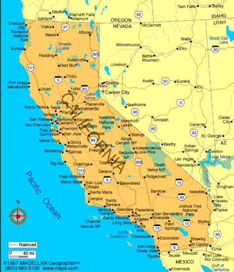 california map atlas california