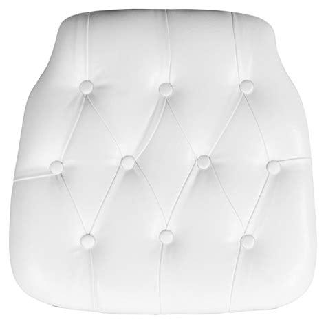 White Chair Cushions flash elegance stacking chiavari chair with