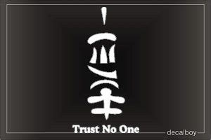 Kaos Trust No One Japanese symbol for trust no one search tattoos