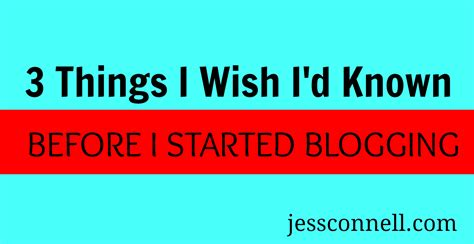 8 Things I Wish Id Always Known About by Writing A Archives Jess Connell