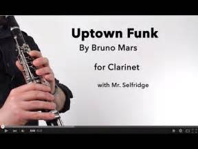 Uptown funk mark ronson ft bruno mars for clarinet youtube