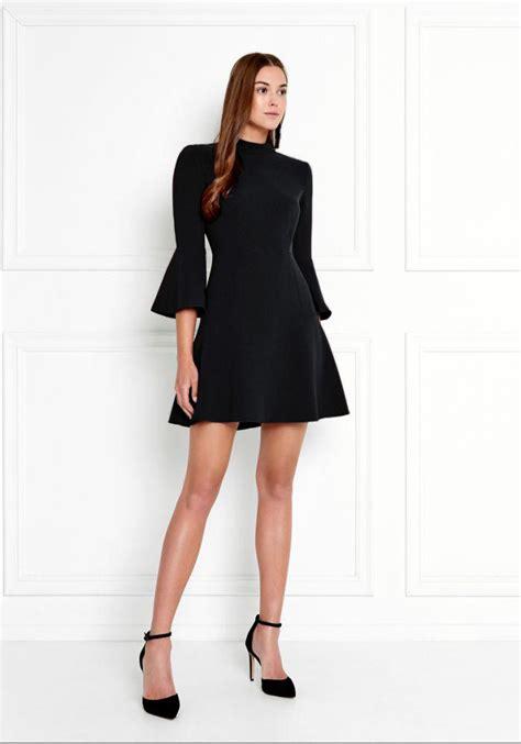 califa zipper dress lyst zoe califa bell sleeve stretch crepe mini