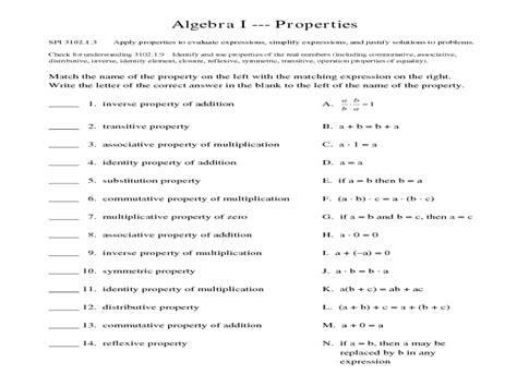 Algebra 1 Worksheet by Math Worksheets For 9th Grade Algebra 1 8th Grade Math
